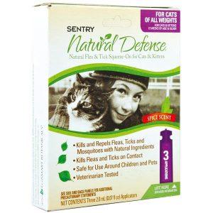 Sentry Natural Defense Капли от блох и клещей для кошек всех пород и котят