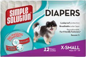 Disposable Diapers X-Small Гигиенические подгузники для животных, 12 шт.