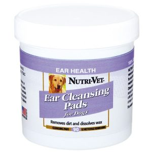 Nutri-Vet Dog Ear Wipe Влажные салфетки для гигиены ушей собак, 90 шт.