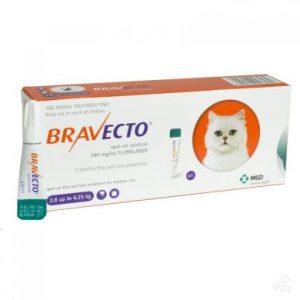 Бравекто Спот-Он (BRAVECTO SPOT-ON) для кошек весом 2,8-6,25 кг, 250 мг